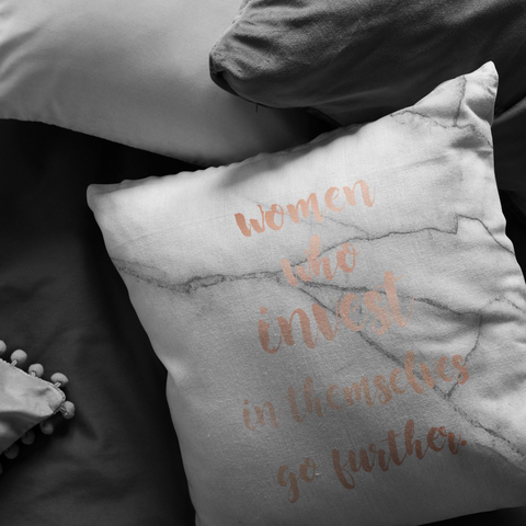 Women Who Invest... | Pillow [Glam Edition]