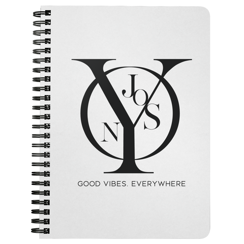 Njooys Good Vibes Everywhere | Spiralbound Notebook