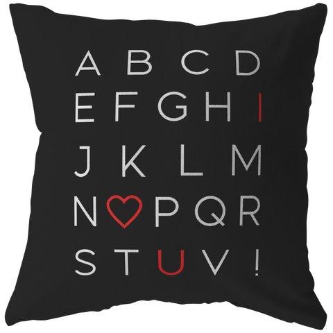 I Love You Alphabet | Pillow [Black Edition]
