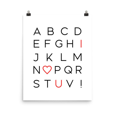 I Love You Alphabet | Digital Poster Download