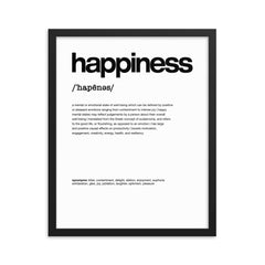 Nitty Gritty Happiness | Framed Fine Art Print