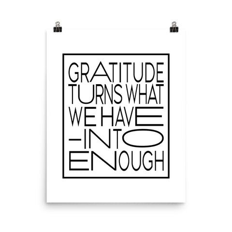 Gratitude Turns... | Digital Poster Download