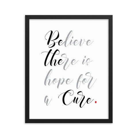 Be The Cure | Framed Fine Art Print