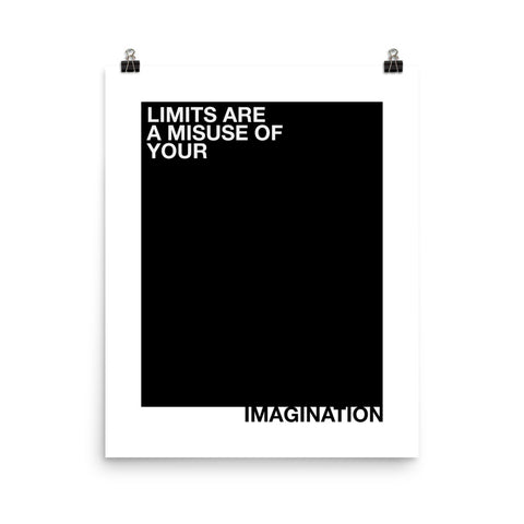 Limits Are A Misuse Of... | Digital Poster Download