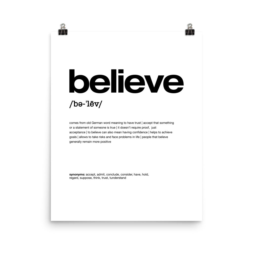Nitty Gritty Believe | Digital Poster Download