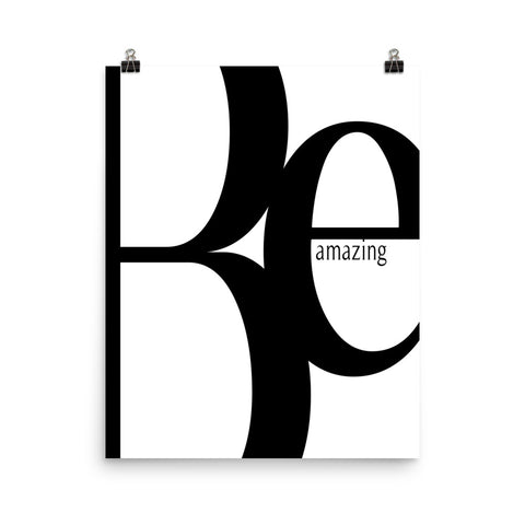 Be Amazing | Digital Poster Download