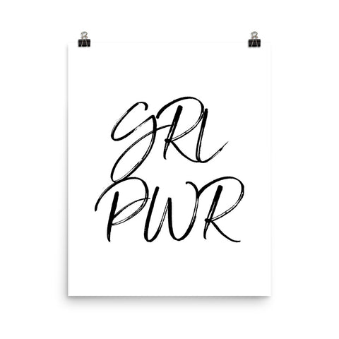 GRL PWR | Digital Poster Download