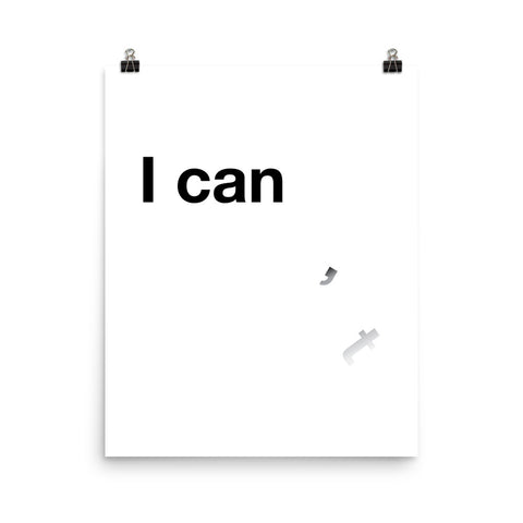 I Can'___t | Digital Poster Download
