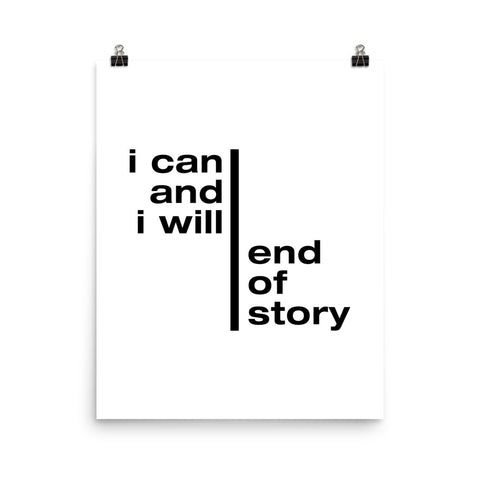 I Can And I Will... | Digital Poster Download