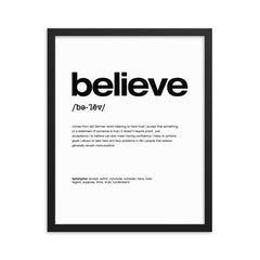 Nitty Gritty Believe | Framed Fine Art Print