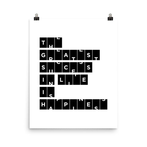 The Greatest Success In Life... | Fine Art Print