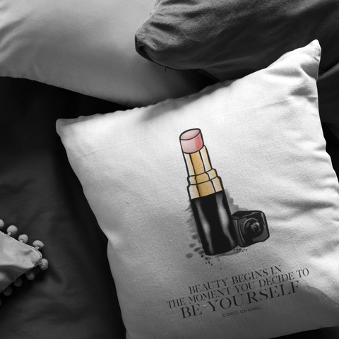 Beauty Begins In The Moment... | Pillow