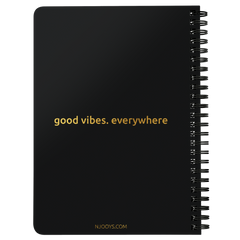 Njooys Good Vibes Everywhere | Spiralbound Notebook [Glam Edition]