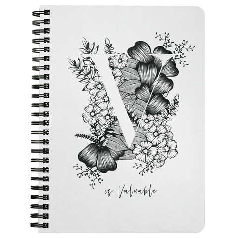 V... Is Valuable | Spiralbound Notebook