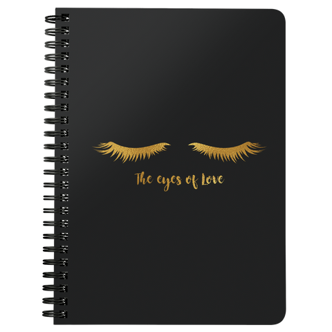 The Eyes Of Love | Spiralbound Notebook [Glam Edition]
