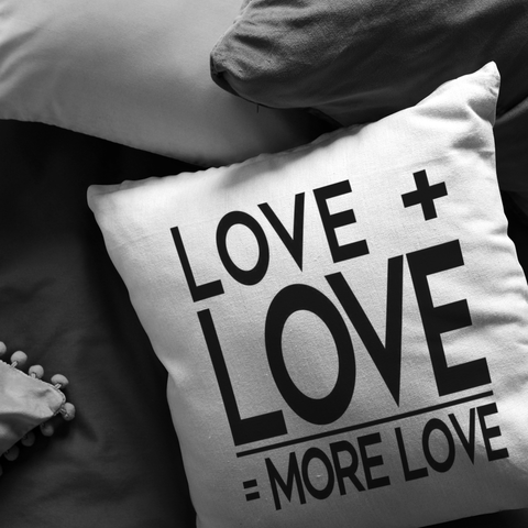Love Plus Love Is... | Pillow