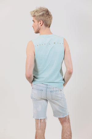 Crystal Wolf Aquamarine Tank Top