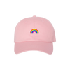 Crystal Wolf Rose Quartz Pride Hat