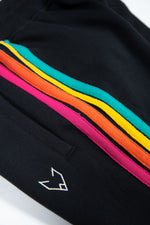 The Rainbow Black Joggers