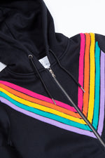The Rainbow Black Hoodie