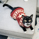 Festive Moose Cat Sweater