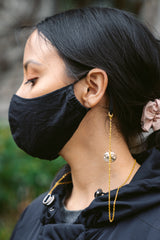Gold Mask Chain Accessory