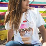 Ice Cream Kitty Cone T-Shirt