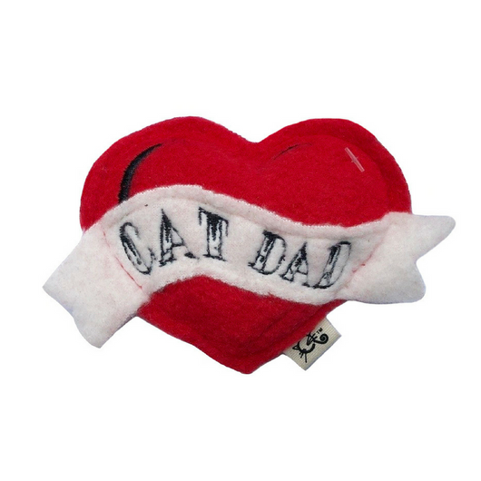 Cat Dad Catnip Heart