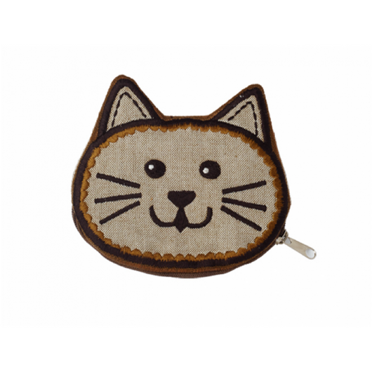 Cat Face Zipper Coin Purse