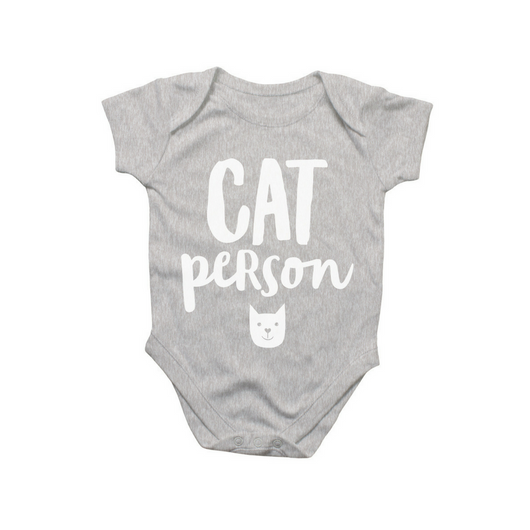 'Cat Person' Baby Onesie