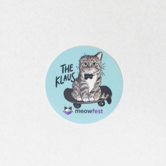meowfest Klaus Sticker