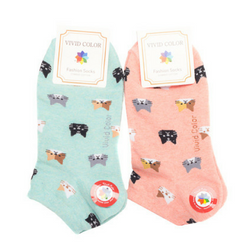 Multi-Cat Ankle Socks