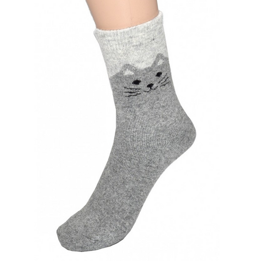Light Grey Cat Socks