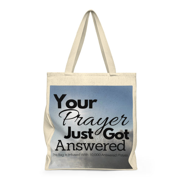 10,000 Prayer Infused Shoulder Tote Bag - Roomy