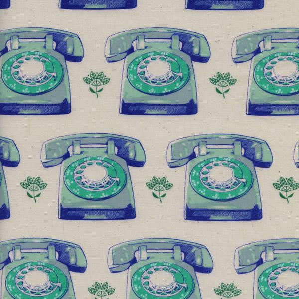 Telephones-Aqua,Cotton+Steel,Trinket