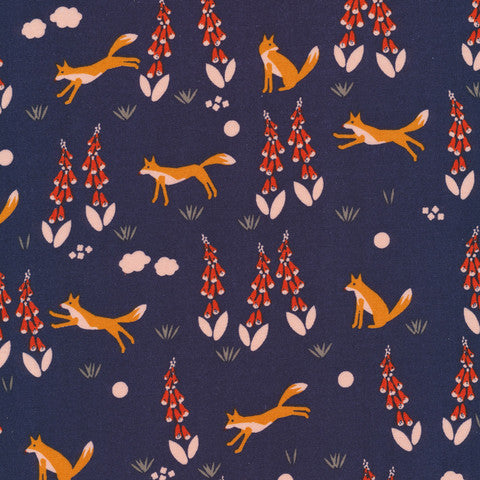 Fox in the Foxgloves-Navy