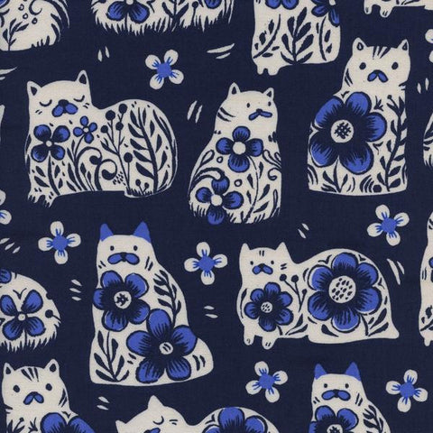 Sushi's Antiques-Navy, Cotton+Steel