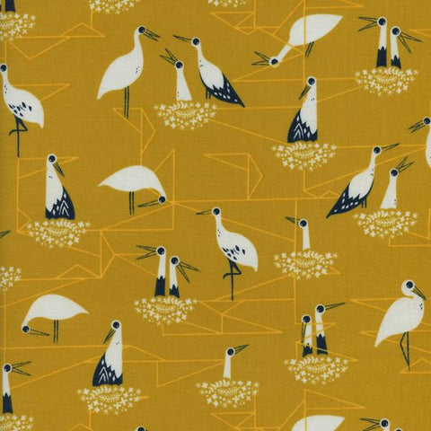 Stork Nest-Yellow, Cotton+Steel, From Porto With Love