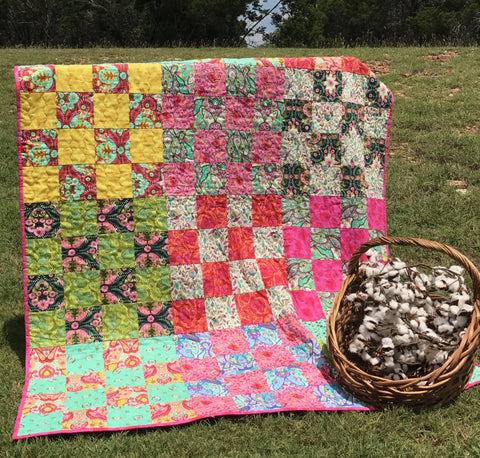 Kit-Patchwork Quilt in Tula Pink (kit excludes backing and binding)