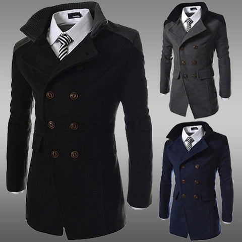 2016 winter jackets coats Spring Autumn And Winter Double-sided Wool Dust Coat Collar Warm Coat Men Long Double-breasted Coat