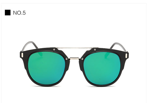 2016 Men's Sunglasses Vintage Women Sun Glasses Flat lens 7 Colors 2016