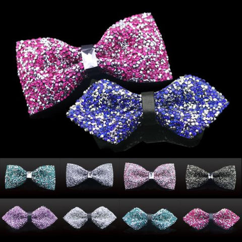 10 Style Bow Tie Crystal 2015 Fashion Mens Tuxedo Adjustable Bowtie For Men GiftBox Formal Wedding Party