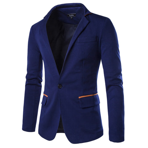 Long Suit Jacket Autumn and Winter Casual Wear Blazer Coat for man,black/navy blue/gray 49