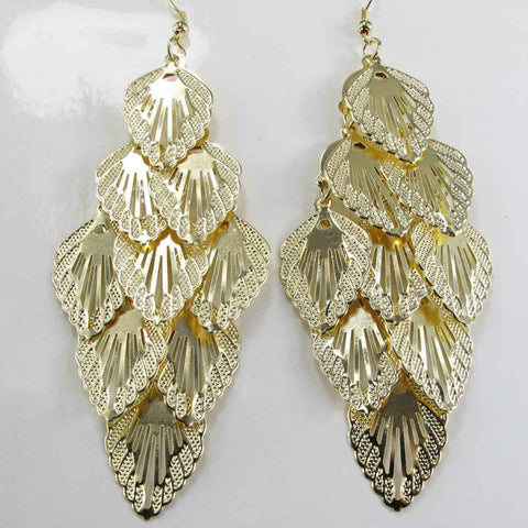 2016 Statement clear crystal long Ear Studs gold filled earring hot 2016