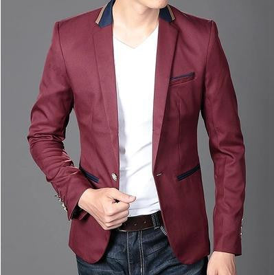 2016 new spring red blazers men male jackets mens slim fit casual suit coat jacket men's blazer fashion 49
