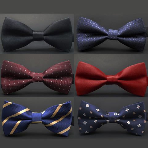 New fashion tuxedo bow tie men red and black tartan groom marry groomsmen wedding party colorful
