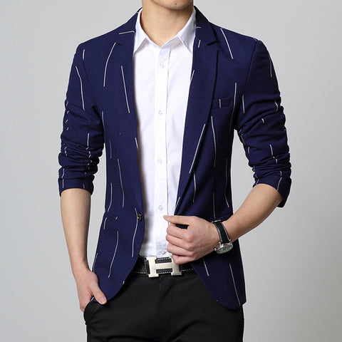 casual blazer slim fit suit jacket red coat one button up blue Male clothing Spring new 2015 Korean fashion 49