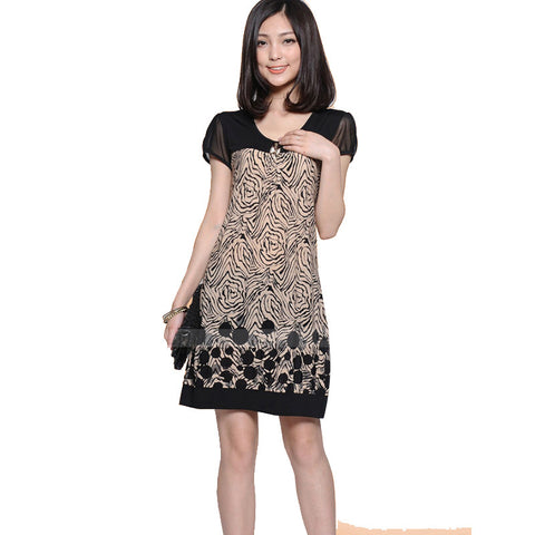2016 Spring New Arrival Fashion Women Dress  Printing Dress Sleeve Loose Dress 43