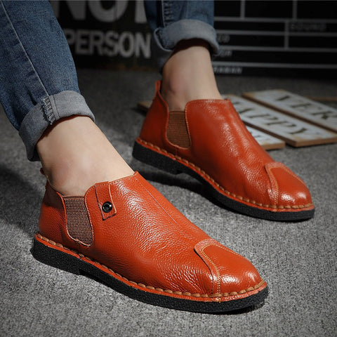 2016 Genuine Leather Shoes Men Fashion British Men Casual Shoes High Quality Dress Shoes Men Loafers