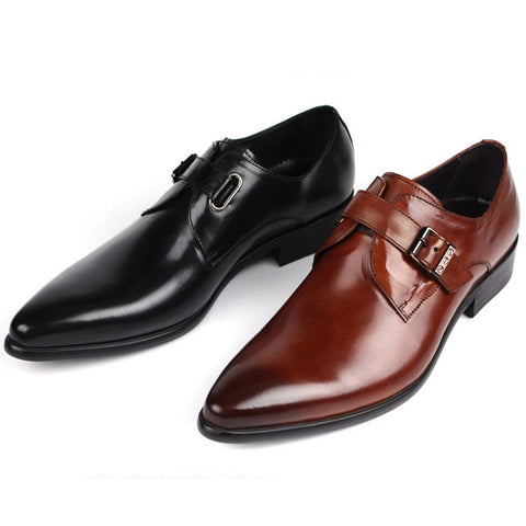 Italian designer formal men dress shoes genuine leather flat shoes for office career shoes
